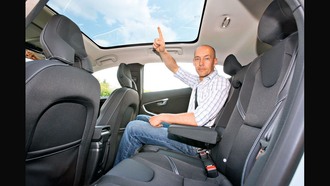 Volvo V40, Rücksitz, Beinfreiheit