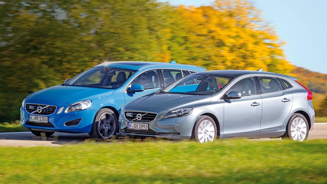 Volvo V60 D2, Volvo V40 D2, Seitenansicht
