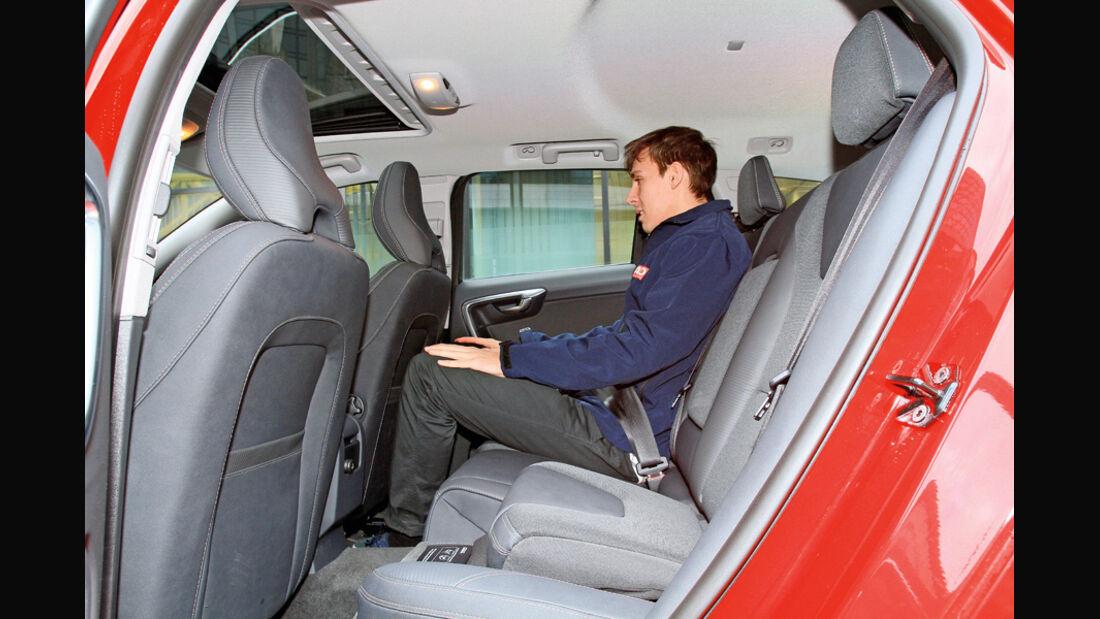 Volvo V60 D3, Rücksitz, Rückbank