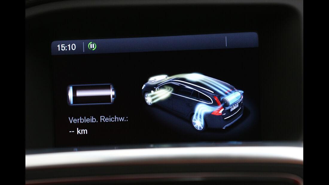 Volvo V60 D6 AWD, Display, Reichweite