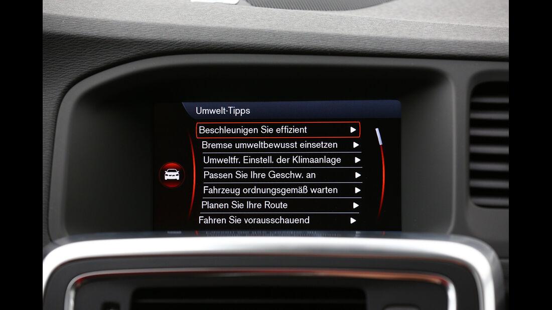 Volvo V60 D6 AWD, Display, Umwelttipps
