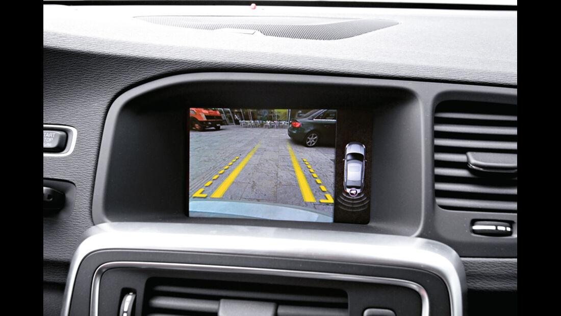 Volvo V60, Detail, Bildschirm, Parkhilfe