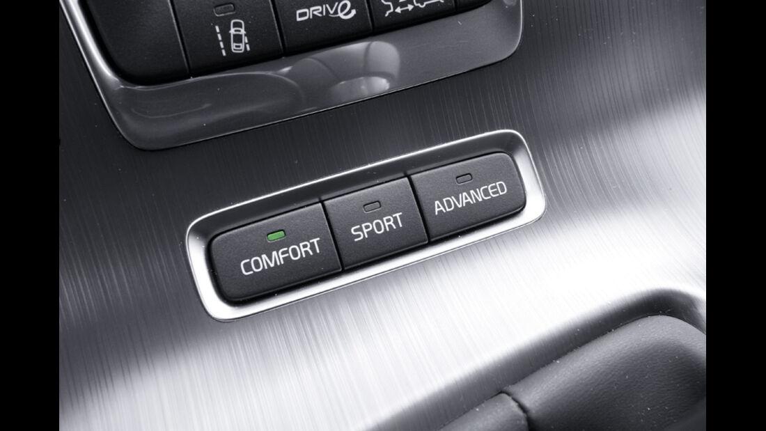 Volvo V60, Detail, Grundeinstellungen, Fahrt, Schaltknöpfe