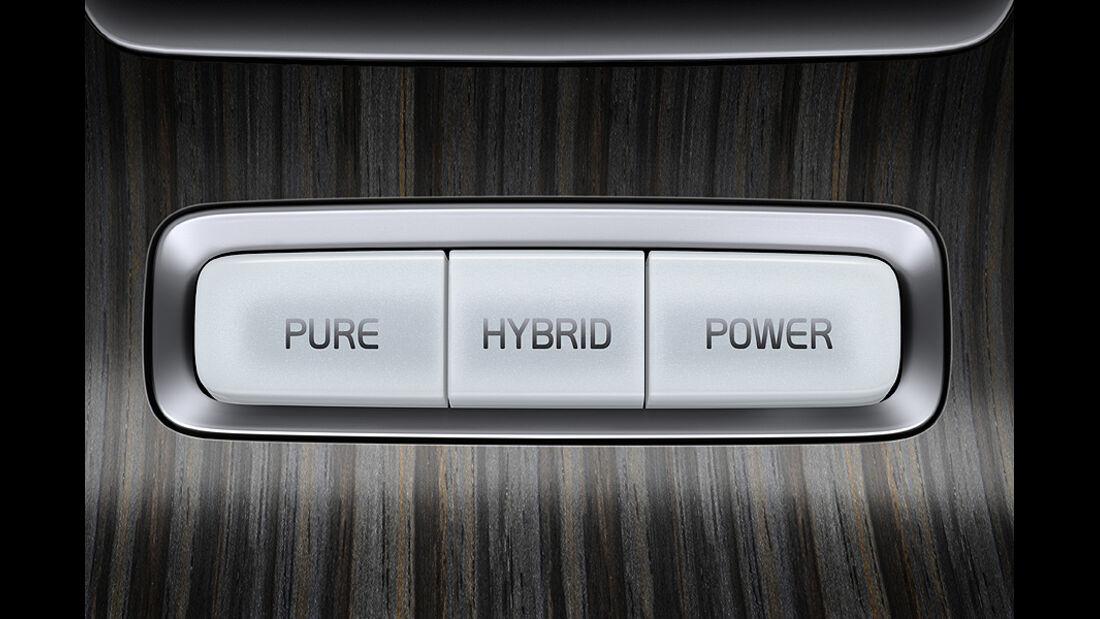 Volvo V60 Diesel-Plug-in-Hybrid, Innenraum, Schalter