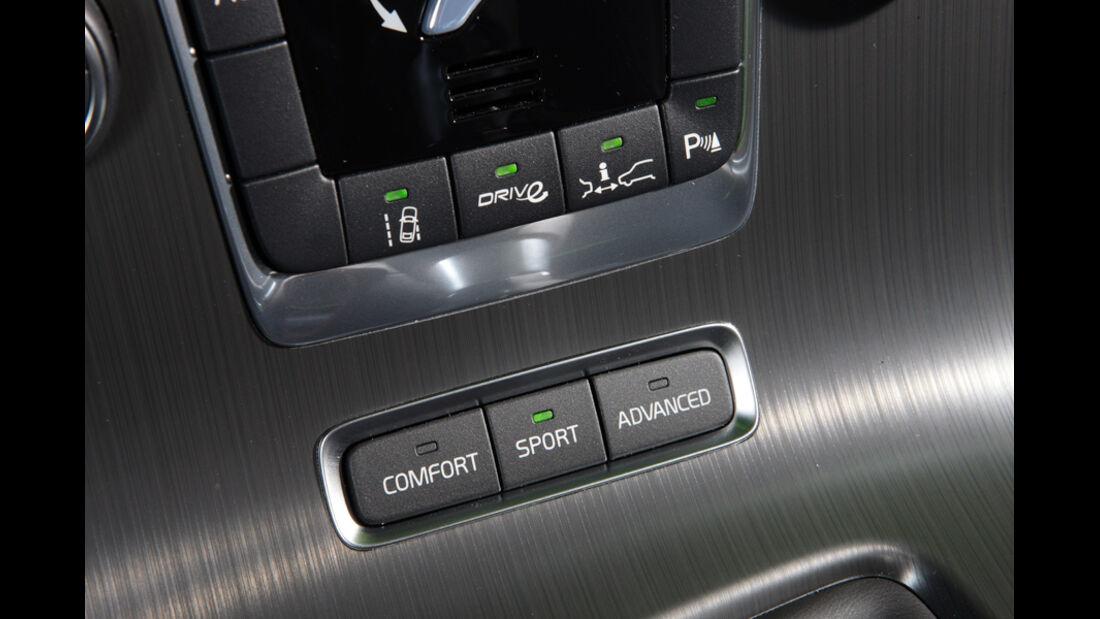 Volvo V60 Drive, Fahreinstellung, Detail, Schaltknöpfe