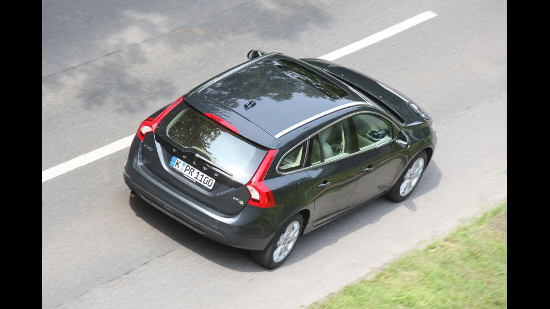 Volvo V60 Drive Summum, von oben, Heck