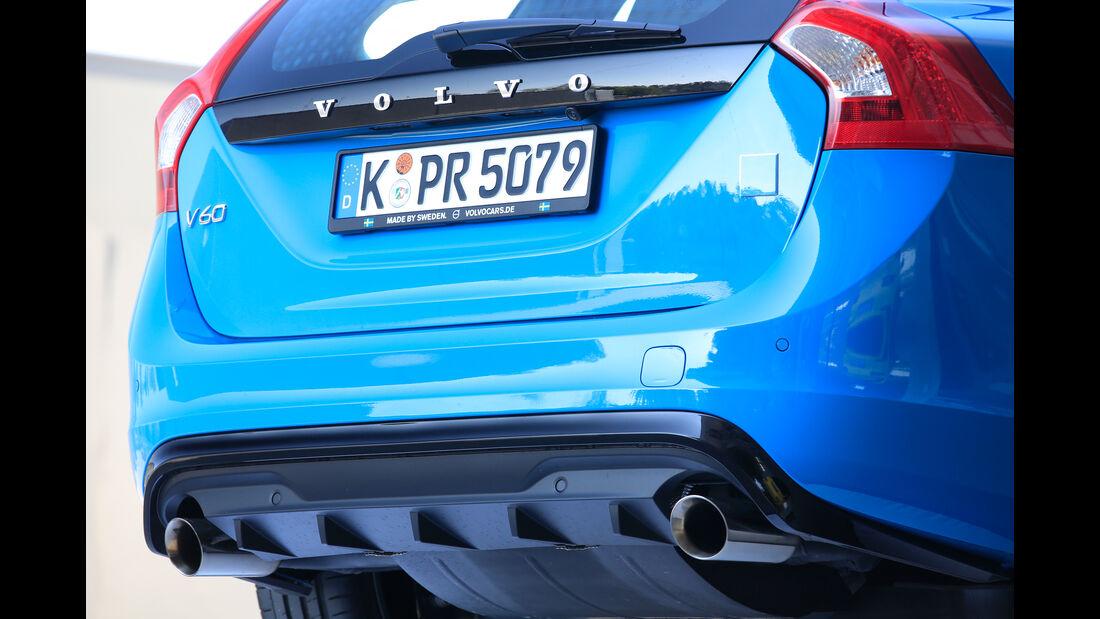 Volvo V60 Polestar, Endrohre