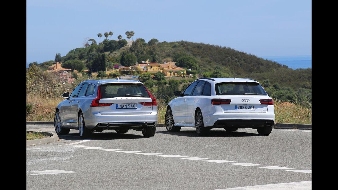 Volvo V90, Audi A6 Avant, Fahrvergleich, AMS 1316