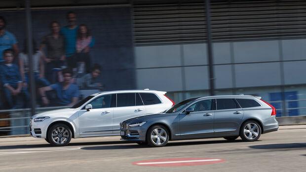 Volvo V90 D5 AWD, Volvo XC90 D5 AWD, Seitenansicht