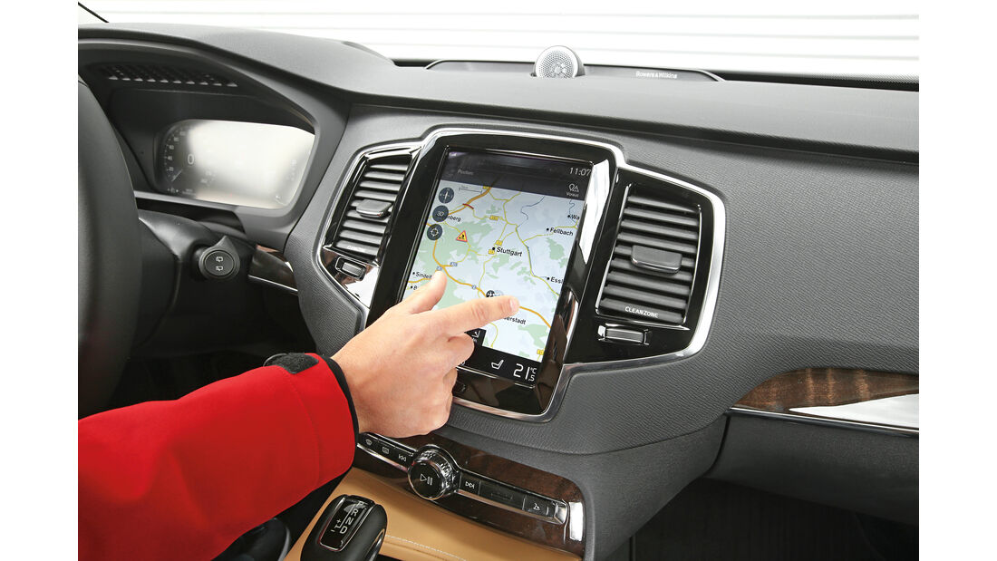 Volvo XC90 D5, Display, Navi