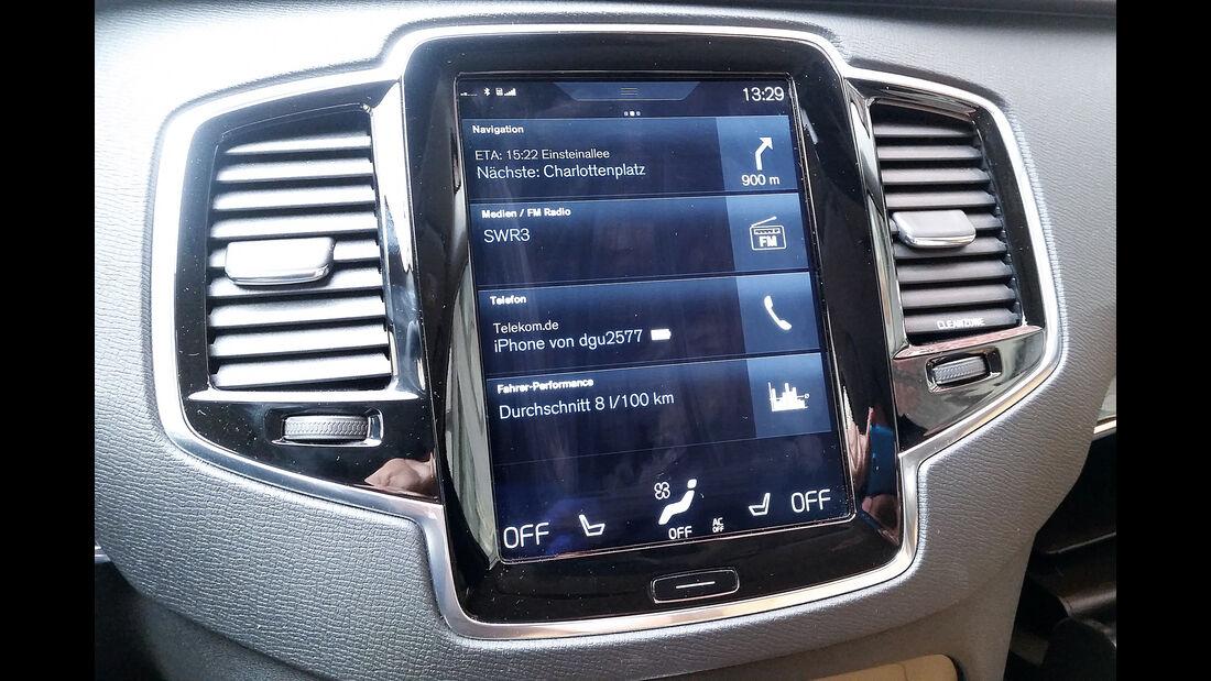 Volvo XC90 D5, Monitor, Bildschirm