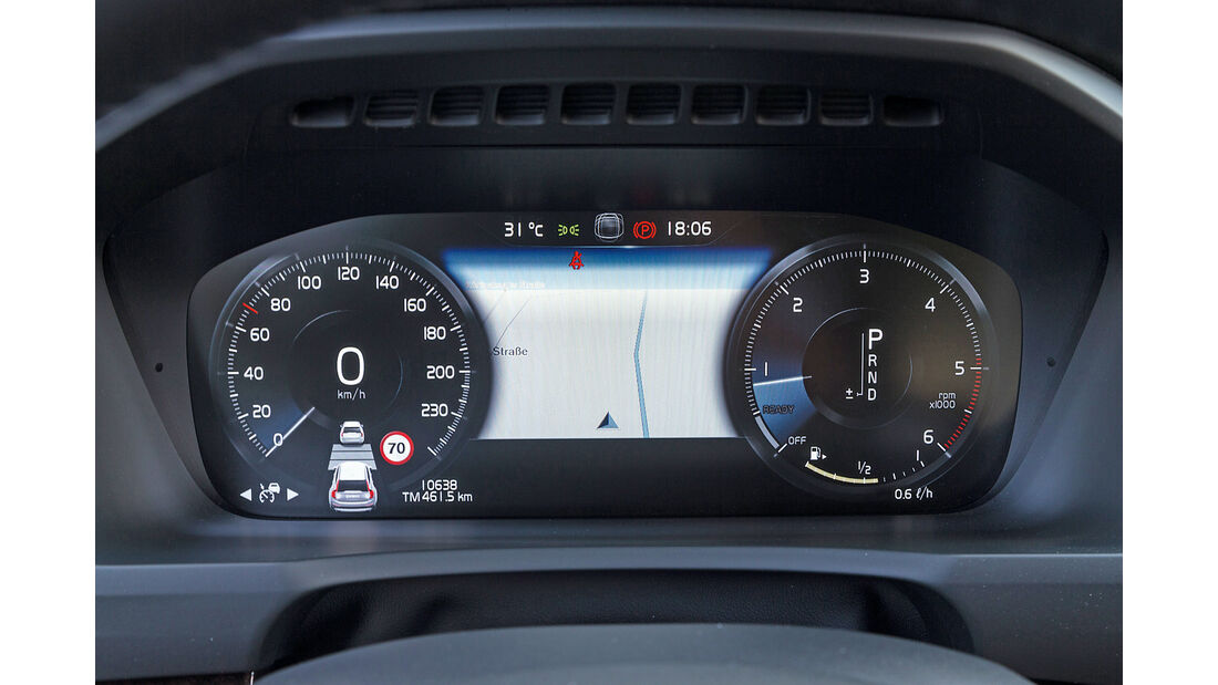 Volvo XC90 D5, Rundinstrumente
