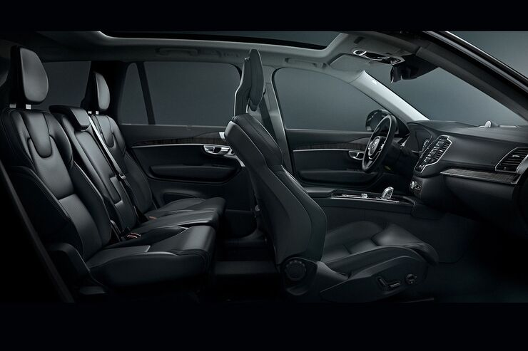 volvo xc90 erster einblick in den innenraum auto motor. Black Bedroom Furniture Sets. Home Design Ideas