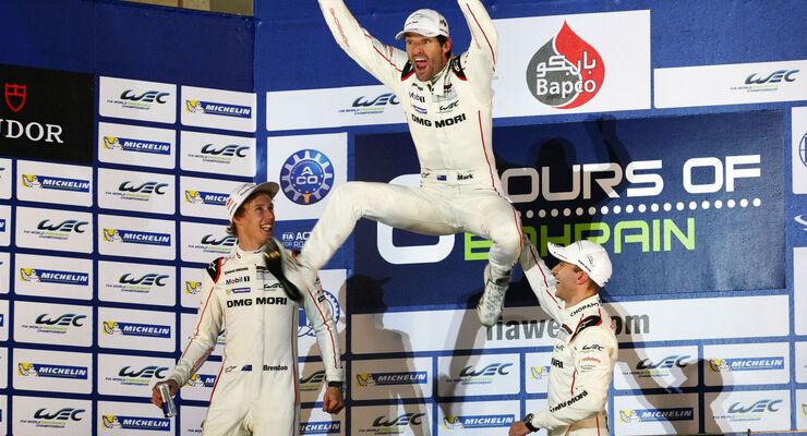 WEC Bahrain 2015 - Porsche - Webber - Hartley - Bernhard