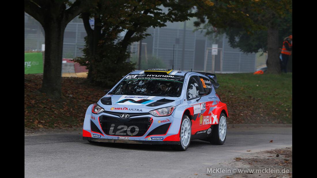 WRC Rallye Frankreich 2014, Bryan Bouffier, Hyundai