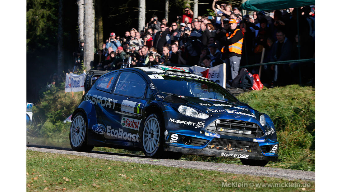 WRC Rallye Frankreich 2014, Elfyn Evans, Ford