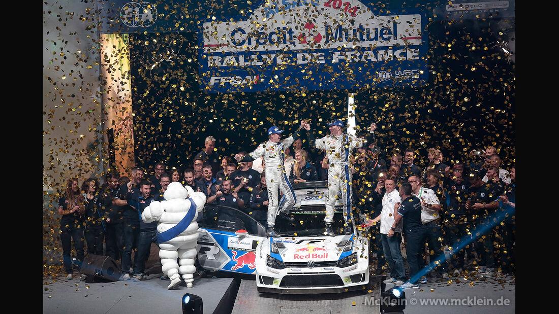 WRC Rallye Frankreich 2014, Jari-Matti Latvala, VW