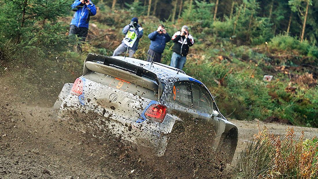 WRC Rallye Wales England Großbritannien VW Polo