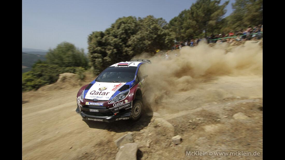 WRC Sardinien, Etappe 1