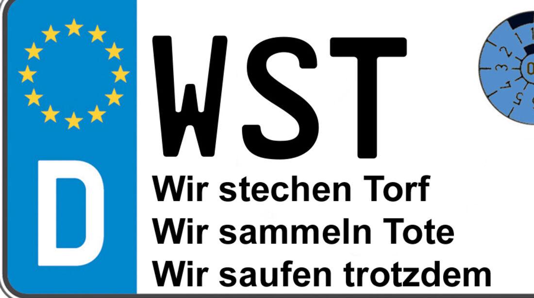 WST Westerstede Kennzeichen-Bedeutung