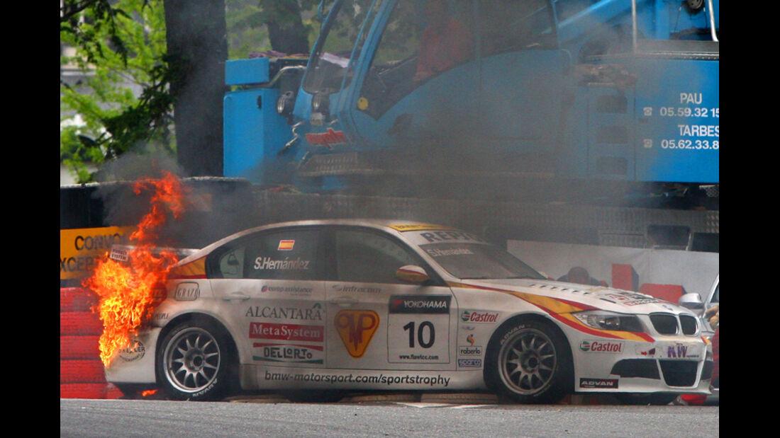 WTCC - BMW in Flammen