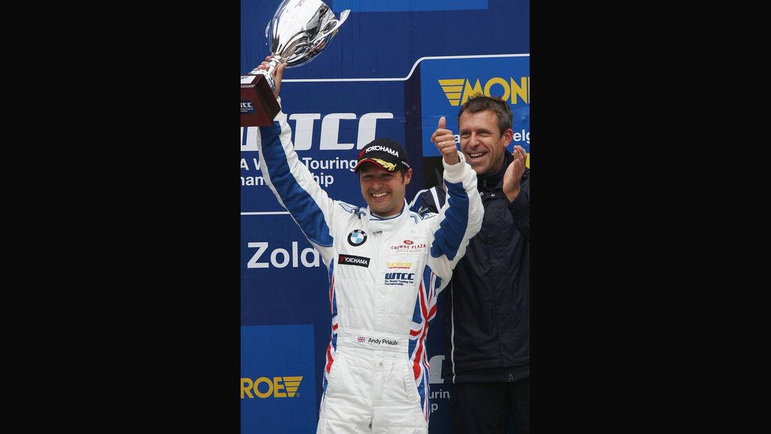 WTCC, Tourenwagen WM, Zolder, 2010, BMW 320 si, Andy Priaulx, Siegerehrung
