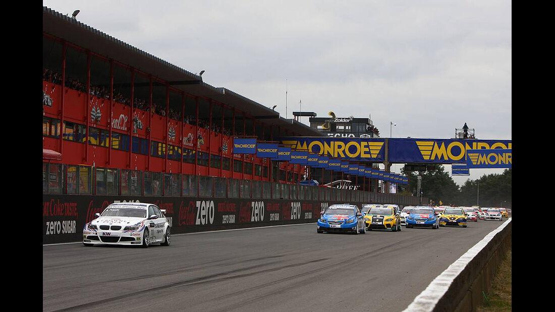WTCC, Tourenwagen WM, Zolder, 2010, BMW 320 si, Andy Priaulx, Verfolgerfeld