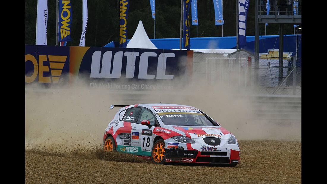 WTCC, Tourenwagen WM, Zolder, 2010, Seat Leon, Barth, Unfall
