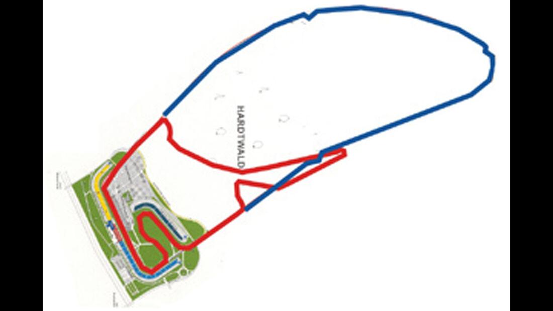 Waldgerade am Hockenheimring, Streckengrafik