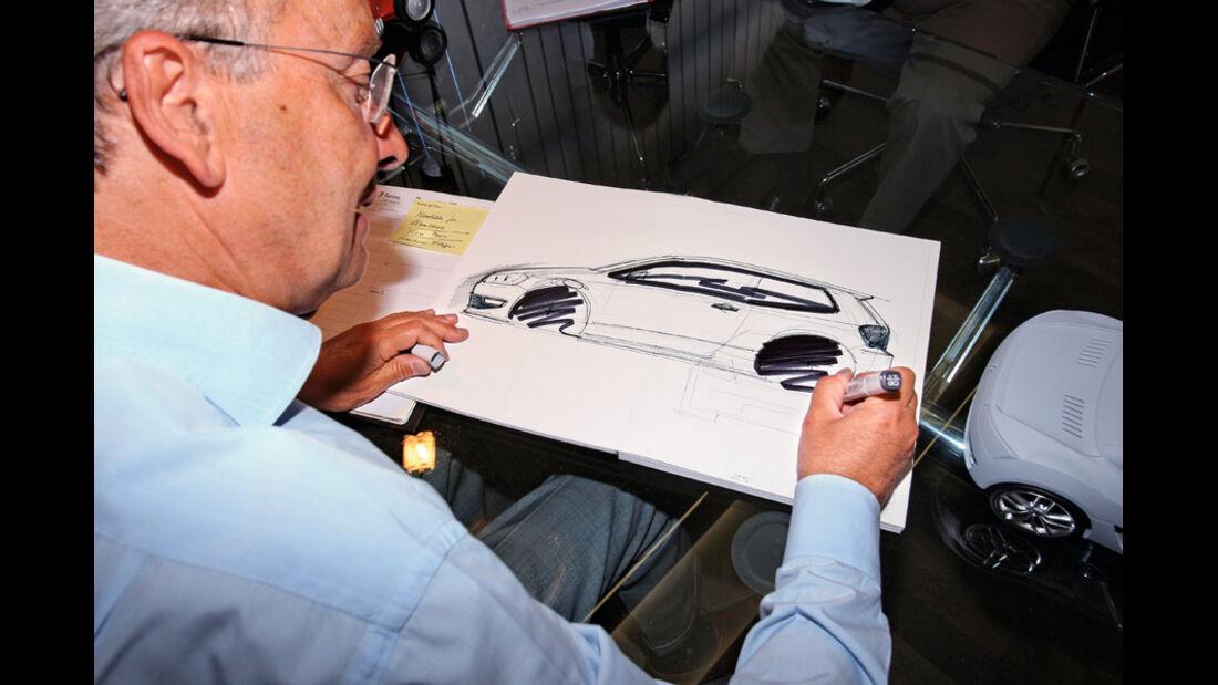 Walter de Silva, Portrait, Zeichnung