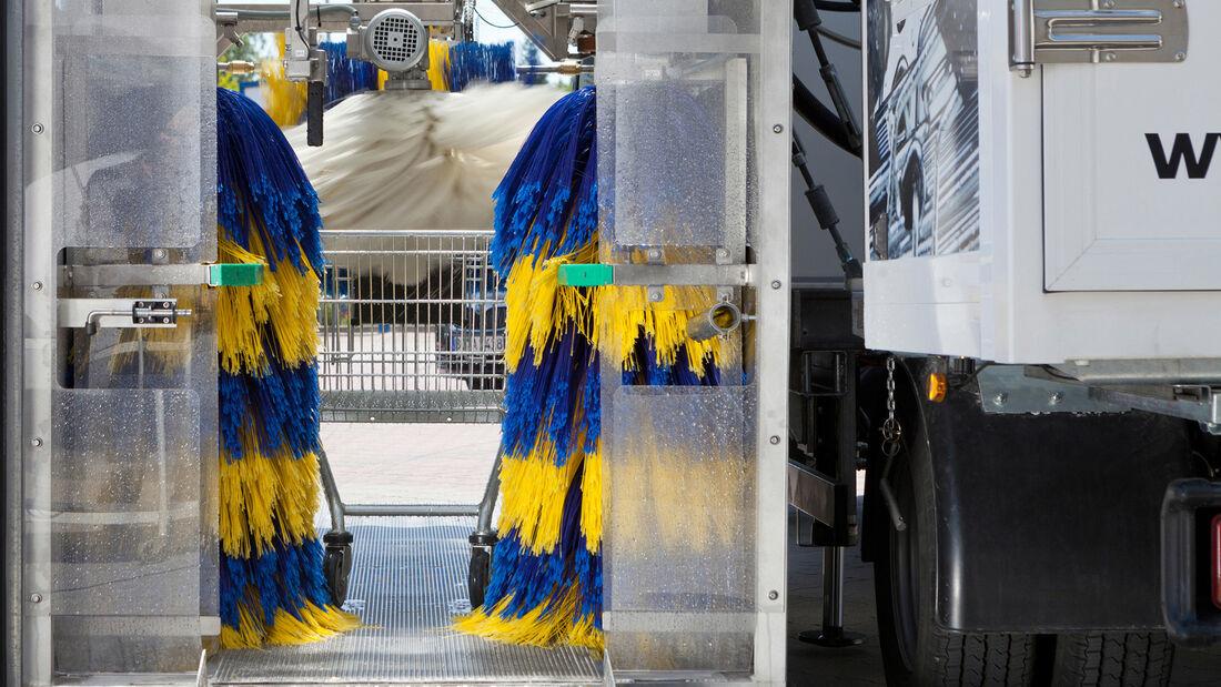 Wanzl Einkaufswagen Waschanlage