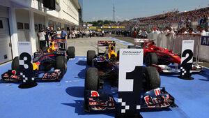 Webber, Alonso und Vettel
