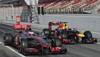 Webber & Button - Formel 1-Test - Barcelona - 2012