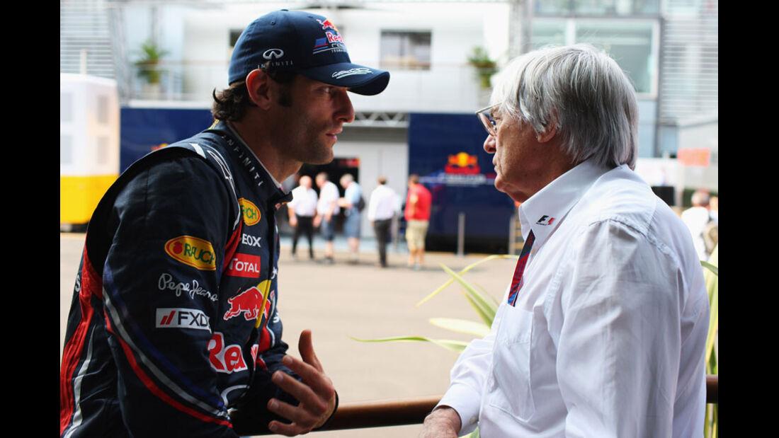 Webber & Ecclestone - GP Italien - Monza - 10. September 2011
