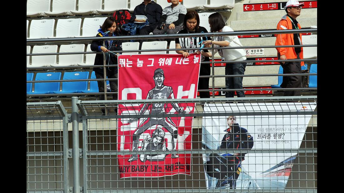 Webber-Fans - Formel 1 - GP Korea - 12. Oktober 2012
