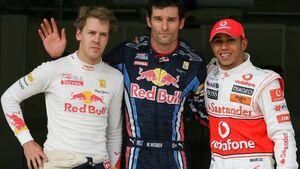 Webber, Hamilton und Vettel