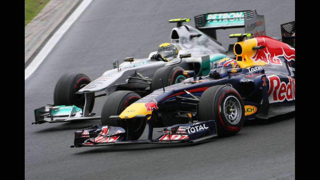 Webber Rosberg - GP Ungarn - Formel 1 - 31.7.2011 - Highlights