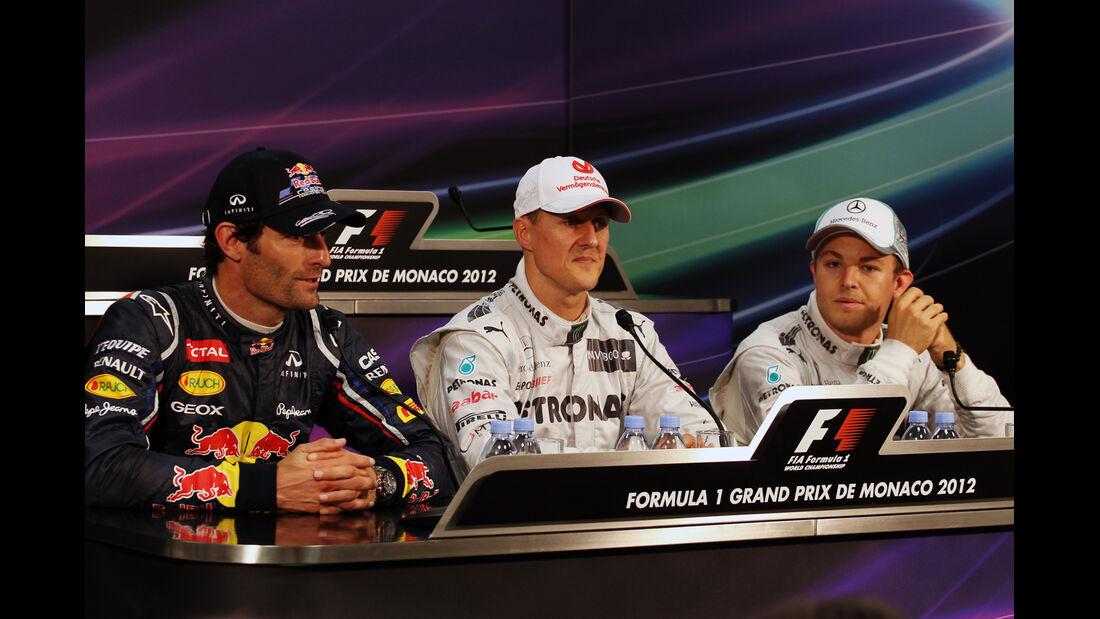 Webber, Schumacher & Rosberg - Formel 1 - GP Monaco - 26. Mai 2012