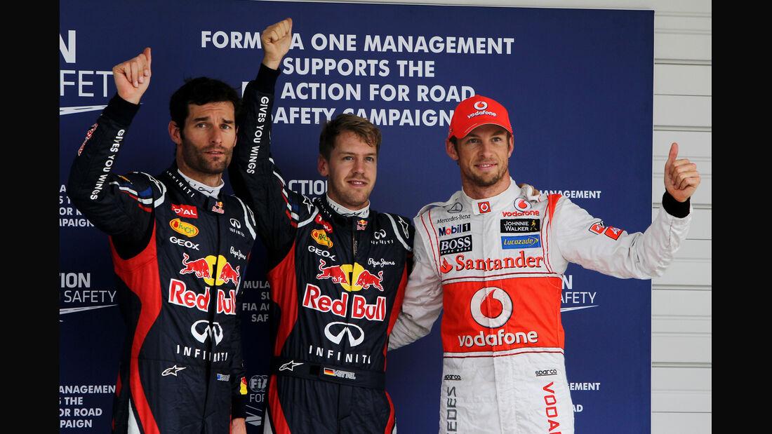 Webber, Vettel & Button GP Japan 2012