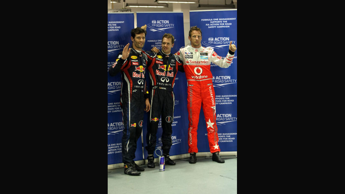 Webber, Vettel & Button - GP Singapur - 24. September 2011