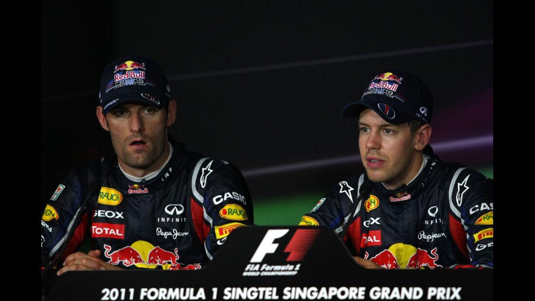 Webber & Vettel - GP Singapur - 24. September 2011