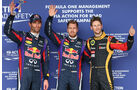 Webber, Vettel & Grosjean - Formel 1 - GP USA - 16. November 2013