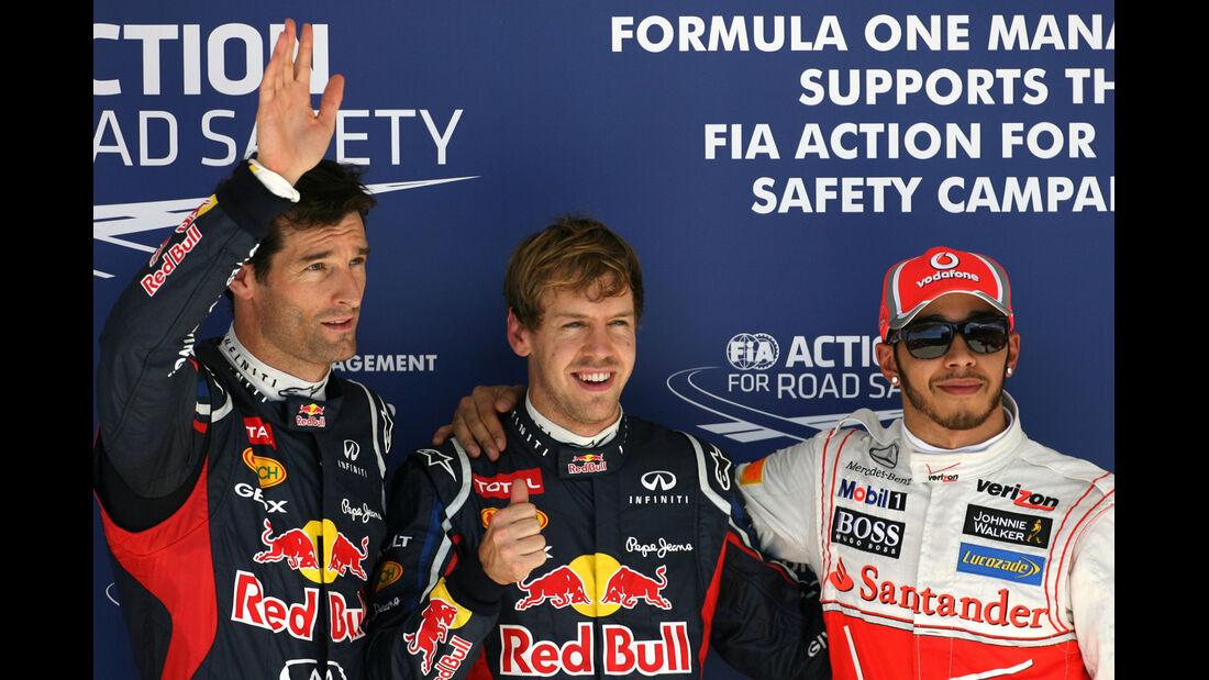Webber, Vettel & Hamilton - Formel 1 - GP USA - Austin - 17. November 2012