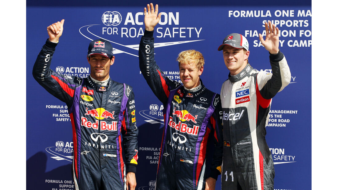 Webber, Vettel & Hülkenberg - Formel 1 - GP Italien - 7. September 2013