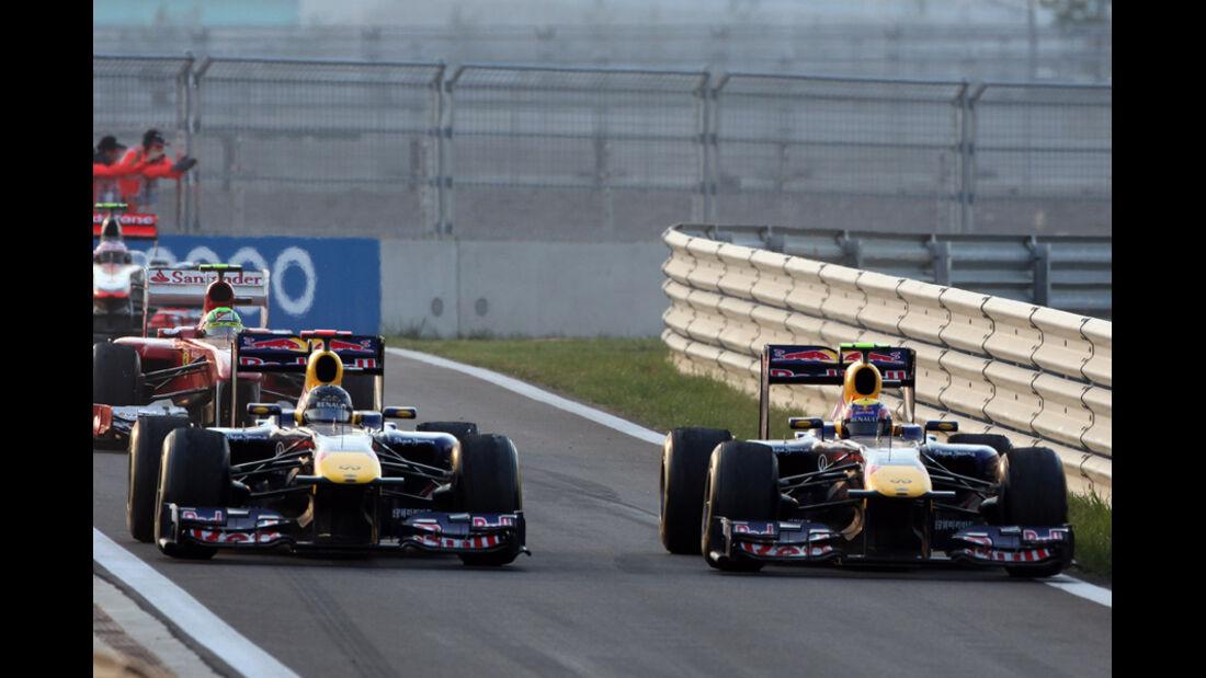 Webber & Vettel Red Bull GP Korea 2011