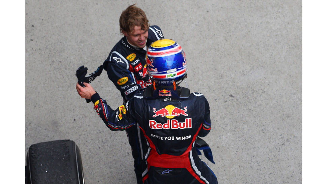 Webber Vetttel  GP China 2011