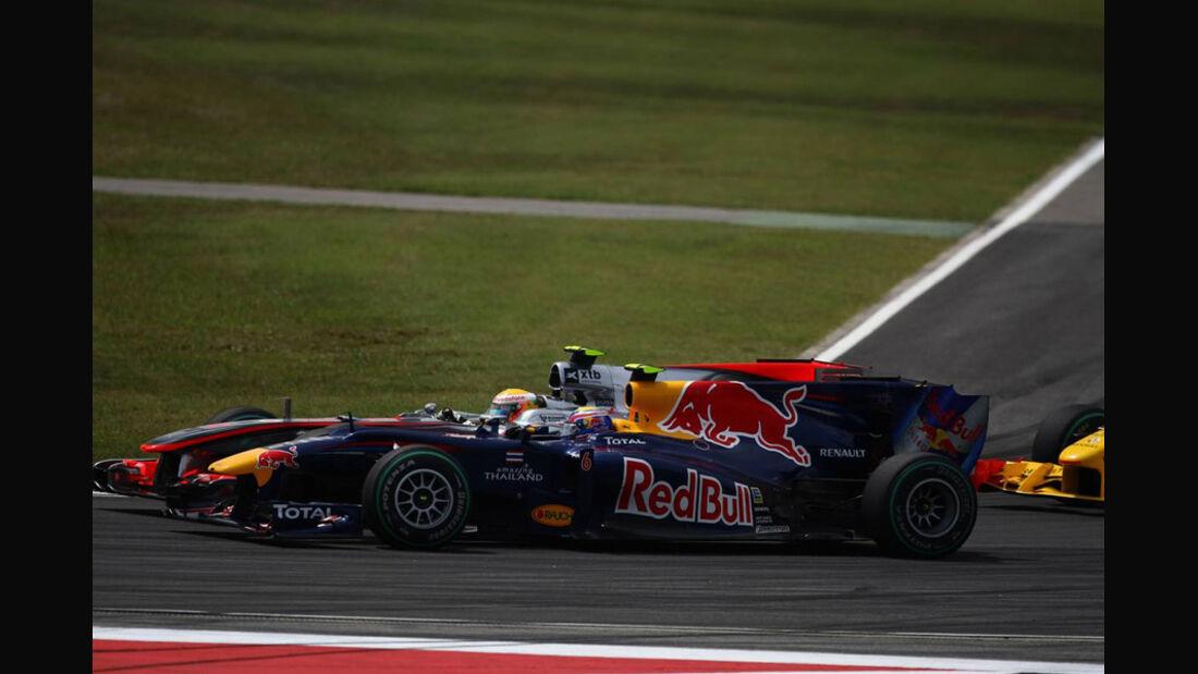 Webber und Hamilton