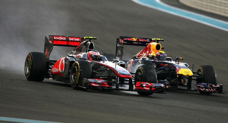 Webber vs. Button - GP Abu Dhabi 2011
