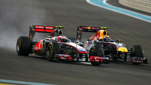 Webber vs. Button - GP Abu Dhabi 2011