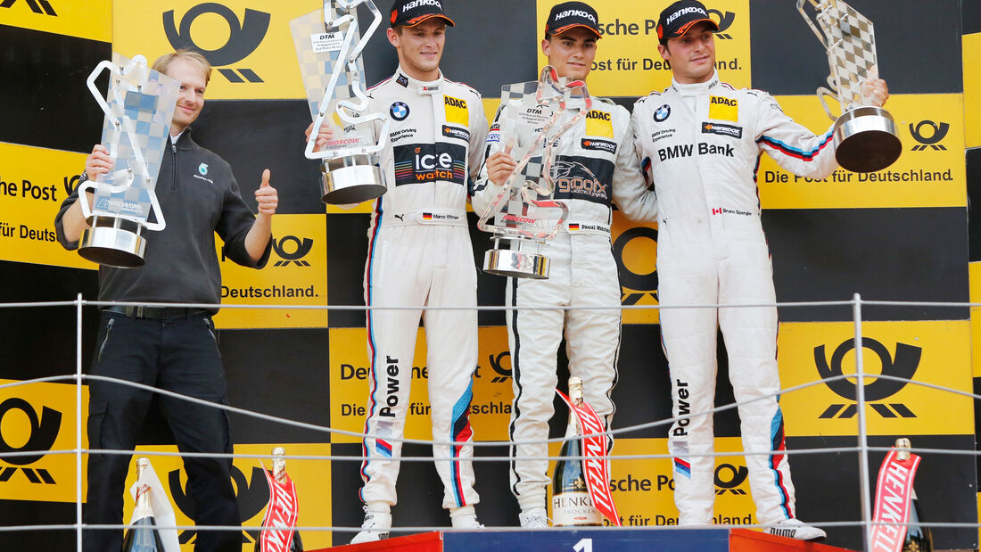 Wehrlein - Wittmann - Spengler - Podest - DTM - Moskau - 1. Rennen - Samstag - 29.08.2015